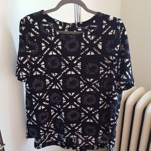 Madewell printed high-low top NWT